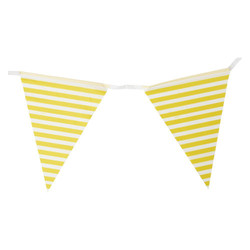 3.6m Flag Bunting - Stripe - Yellow