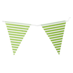 3.6m Flag Bunting - Stripe - Green