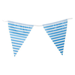 3.6m Flag Bunting - Stripe - Blue