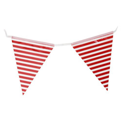 3.6m Flag Bunting - Stripe - Red