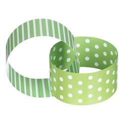 Paper Chain - Dots & Stripes - 3m - Green