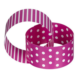 Paper Chain - Dots & Stripes - 3m - Pink