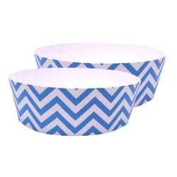 Cake Baking Pan  2pk - Chevron Blue