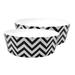 Cake Baking Pan  2pk - Chevron Black