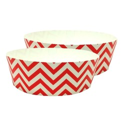 Cake Baking Pan  2pk - Chevron Red