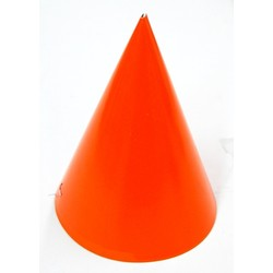 6 x Paper Party Hats Pk - Orange