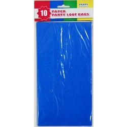 10 x Party Paper Loot Bags - Royal Blue