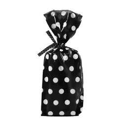 Cello Loot Lolly Bags - 24pcs - Dots - Black