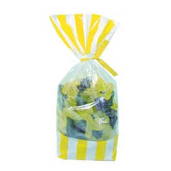 Cello Loot Lolly Bags - 24pcs - Stripes - Yellow