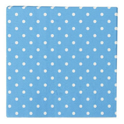 Napkins - 3ply - 33cm x 33cm - 16pcs - Blue Dots