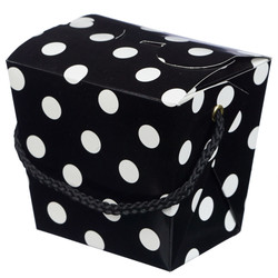 Noodle Box - 4pc - Black Dots