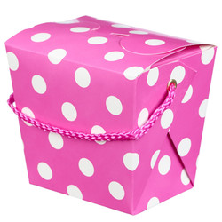 Noodle Box - 4pc - Pink Dots