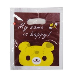100 x Plastic Party Loot Candy Bags - Chocolate Bear - Small