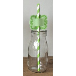 Straw Topper - 24pcs - Green