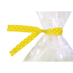 Twist Ties - 50pcs - Dots - Yellow