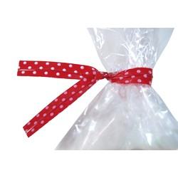 Twist Ties - 50pcs - Dots - Red