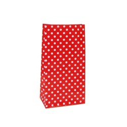 Paper Party Loot Bags - Red Polka Dots