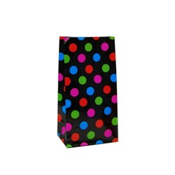 Paper Party Loot Bags - Multi Spots Black