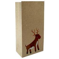 Party Bags - Christmas Kraft Loot Bag - Reindeer