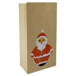 Party Bags - Christmas Kraft Loot Bag - Jolly Santa