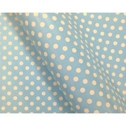 Wrapping Paper - 500mm x 60M - Blue Polka Dots