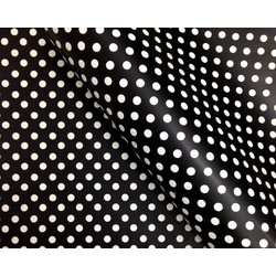 Wrapping Paper - 500mm x 60M - Black Polka Dots