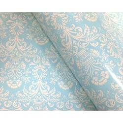 Wrapping Paper - 500mm x 60M - Blue Florentine