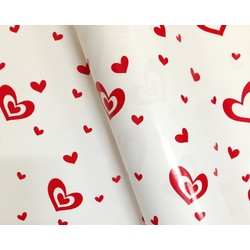 Wrapping Paper - 500mm x 60M - Red Hearts