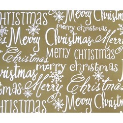 Counter Roll - 500mm x 60M - Wrapping Paper - Merry Xmas Gold