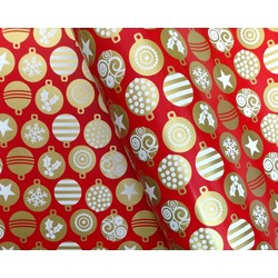 Counter Roll - 500mm x 60M - Christmas Baubles