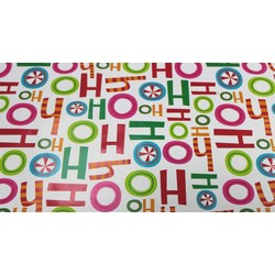 Counter Roll - 500mm x 60M - Christmas Wrapping Paper - Ho Ho Ho