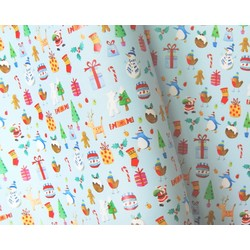 Counter Roll - 500mm x 60M - Christmas Wrapping Paper - Fun Kids Christmas Design