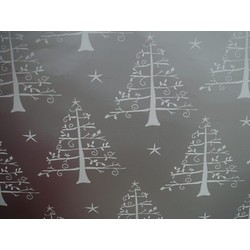 Counter Roll - 500mm x 60M - White Trees - Silver