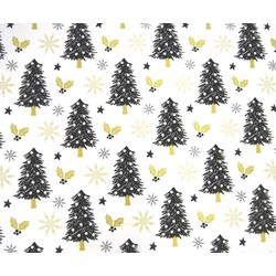 Counter Roll - 500mm x 60M - Xmas Tree Black