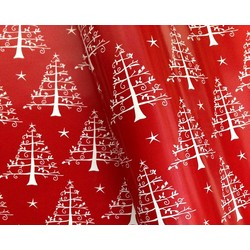 Counter Roll - 500mm x 60M - White Trees - Red