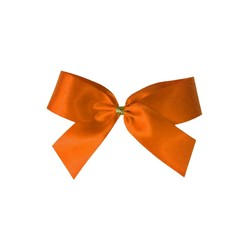 Satin Bow - 7cm - Orange - 100pk