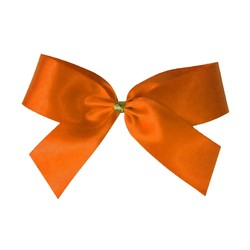 Satin Bow - 10cm - Orange - 50pk