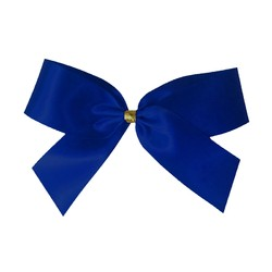 Satin Bow With Bottle Loop - 10cm - Royal Blue - 50pk