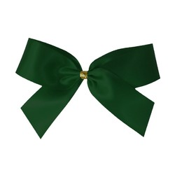 Satin Bow With Bottle Loop - 10cm - Emerald Green - 50pk