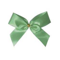 Satin Bow With Bottle Loop - 10cm - Mint Green - 50pk