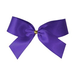 Satin Bow With Bottle Loop - 10cm - Violet Purple - 50pk