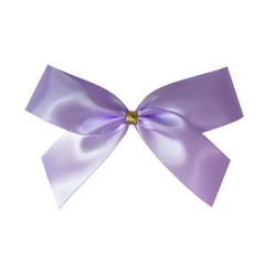 Satin Bow With Bottle Loop - 10cm - Lavender - 50pk