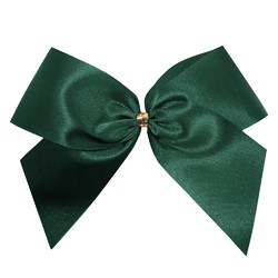 Satin Bow - 12cm - Dark Green - 100pk