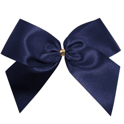Satin Bow - 12cm - Navy Blue - 100pk