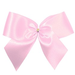 Satin Bow - 12cm - Light Pink - 100pk