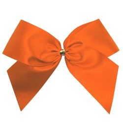 Satin Bow - 12cm - Orange - 100pk