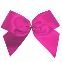 Satin Bow - 12cm - Hot Pink - 100pk