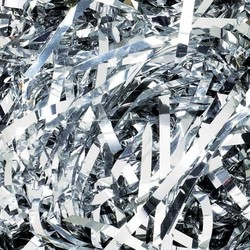 Foil Metallic Shreds - 1KG - Metallic Silver