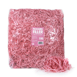 Shredded Paper Shreds Filler - 1KG - Light Pink