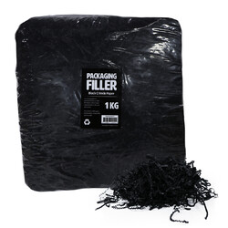 Shredded Paper Shreds Filler - 1KG - Black